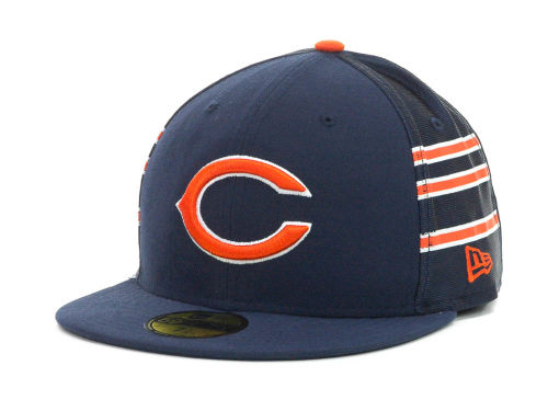 Chicago Bears New Era NFL Jersey Stripe 59FIFTY Cap Hats