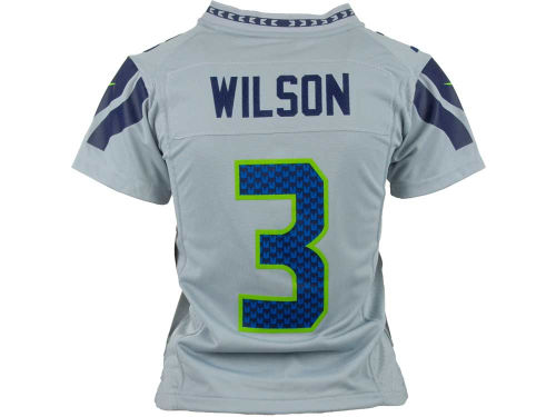 Seattle Seahawks Russell Wilson #3 Nike NFL Youth Game Jersey