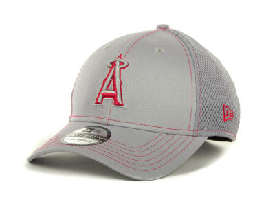 Los Angeles Angels of Anaheim MLB Gray Neo 39THIRTY Cap Hats