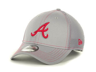 Atlanta Braves MLB Gray Neo 39THIRTY Cap Hats