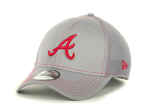 Atlanta Braves New Era MLB Gray Neo 39THIRTY Cap Hats