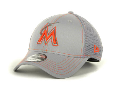 Miami Marlins MLB Gray Neo 39THIRTY Cap Hats