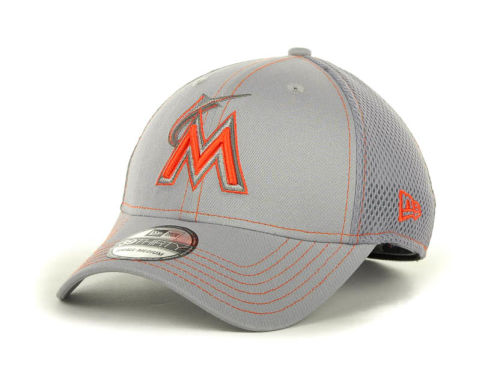 Miami Marlins New Era MLB Gray Neo 39THIRTY Cap Hats