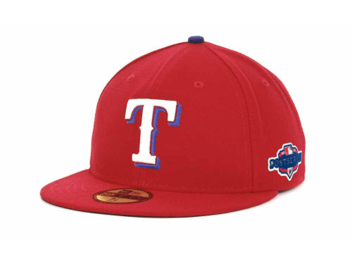 Texas Rangers New Era 2012 MLB Post Season Patch 59FIFTY Cap Hats