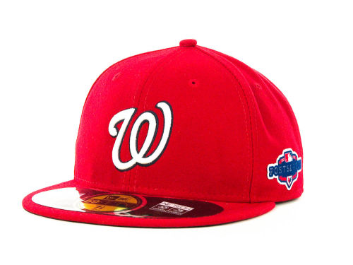Washington Nationals New Era 2012 MLB Post Season Patch 59FIFTY Cap Hats