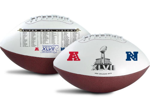 Super Bowl XLVII Super Bowl XLVII Embossed Full Size Football