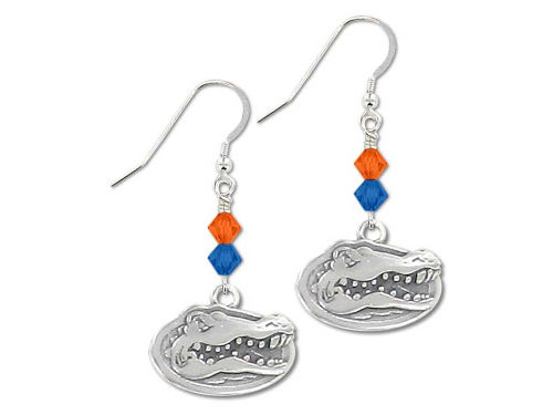Florida Gators Bicone Crystal Earrings