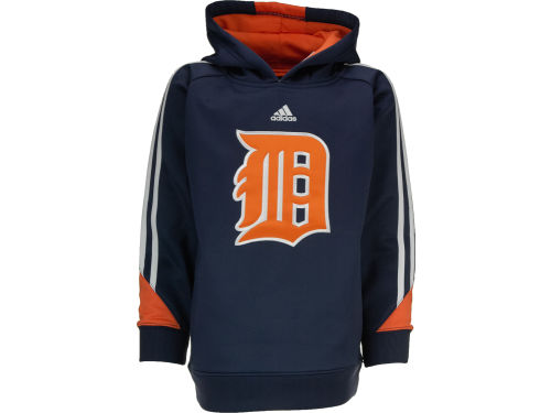 Detroit Tigers adidas MLB Youth Long Sleeve Popover Hoodie