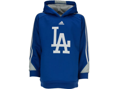 Los Angeles Dodgers adidas MLB Youth Long Sleeve Popover Hoodie