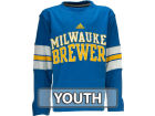 Milwaukee Brewers adidas MLB Youth Long Sleeve Crew Neck T-Shirt T-Shirts