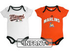 Miami Marlins adidas MLB Infant 3 Piece Bodysuit Set Infant Apparel