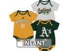 Oakland Athletics adidas MLB Infant 3 Piece Bodysuit Set Infant Apparel