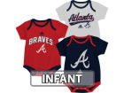 Atlanta Braves adidas MLB Infant 3 Piece Bodysuit Set Infant Apparel