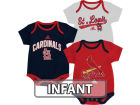 St. Louis Cardinals adidas MLB Infant 3 Piece Bodysuit Set Infant Apparel