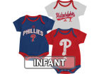 Philadelphia Phillies adidas MLB Infant 3 Piece Bodysuit Set Infant Apparel