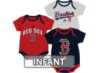 Boston Red Sox adidas MLB Infant 3 Piece Bodysuit Set Infant Apparel