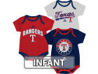 Texas Rangers adidas MLB Infant 3 Piece Bodysuit Set Infant Apparel