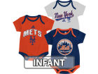 New York Mets adidas MLB Infant 3 Piece Bodysuit Set Infant Apparel