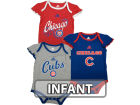 Chicago Cubs Outerstuff MLB Infant Girls 3 Piece Bodysuit Set Infant Apparel