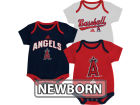 Los Angeles Angels of Anaheim Outerstuff MLB Newborn 3 Piece Bodysuit Set Infant Apparel