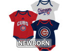 Chicago Cubs Outerstuff MLB Newborn 3 Piece Bodysuit Set Infant Apparel