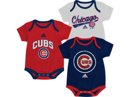 Chicago Cubs Outerstuff MLB Newborn 3 Piece Bodysuit Set