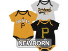 Pittsburgh Pirates Outerstuff MLB Newborn 3 Piece Bodysuit Set Infant Apparel