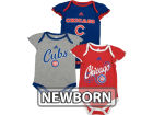 Chicago Cubs Outerstuff MLB Newborn Girls 3 Piece Bodysuit Set Infant Apparel