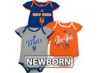 New York Mets Outerstuff MLB Newborn Girls 3 Piece Bodysuit Set Infant Apparel