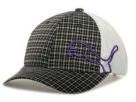 Puma Womens Plaid Trucker Cap Adjustable Hats