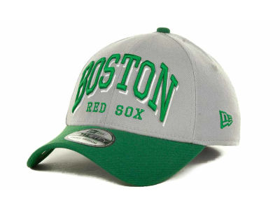 Boston Red Sox MLB Arch Mark Classic St Pats 39THIRTY Cap Hats