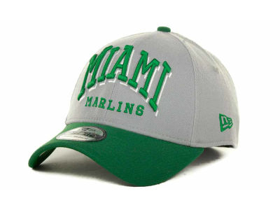Miami Marlins MLB Arch Mark Classic St Pats 39THIRTY Cap Hats