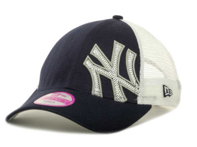 New York Yankees MLB Womens Sequin Shimmer 9FORTY Cap Hats