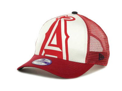 Los Angeles Angels of Anaheim MLB Flocked Frontal 9FORTY Cap Hats