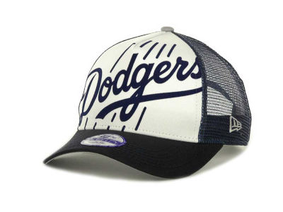 Los Angeles Dodgers MLB Flocked Frontal 9FORTY Cap Hats