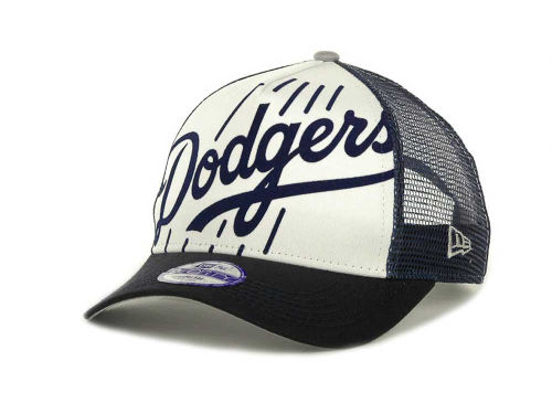 Los Angeles Dodgers New Era MLB Flocked Frontal 9FORTY Cap Hats