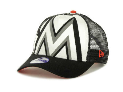 Miami Marlins MLB Flocked Frontal 9FORTY Cap Hats