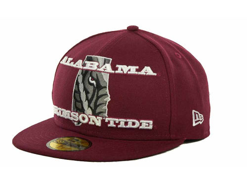 Alabama Crimson Tide New Era NCAA State Insider 59FIFTY Cap Hats