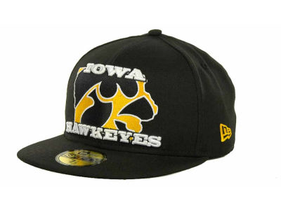Iowa Hawkeyes NCAA State Insider 59FIFTY Cap Hats