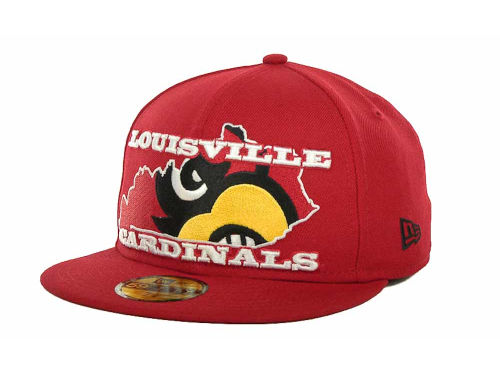 Louisville Cardinals New Era NCAA State Insider 59FIFTY Cap Hats