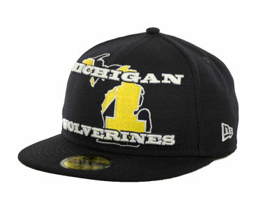 Michigan Wolverines NCAA State Insider 59FIFTY Cap Hats