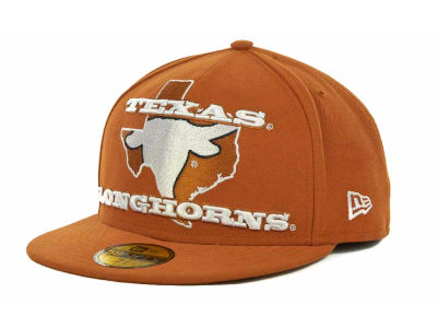 Texas Longhorns NCAA State Insider 59FIFTY Cap Hats
