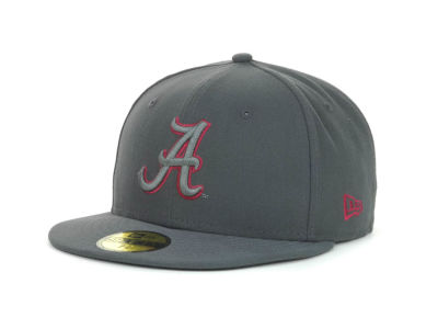 Alabama Crimson Tide NCAA Gray Pop 59FIFTY Cap Hats