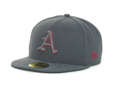 Arkansas Razorbacks NCAA Gray Pop 59FIFTY Cap Hats