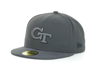 Georgia Tech Yellow Jackets NCAA Gray Pop 59FIFTY Cap Hats