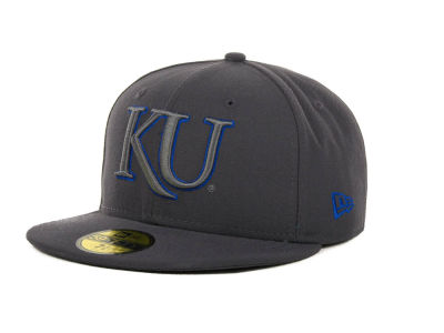 Kansas Jayhawks NCAA Gray Pop 59FIFTY Cap Hats