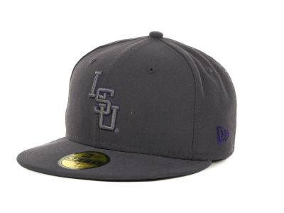 LSU Tigers NCAA Gray Pop 59FIFTY Cap Hats