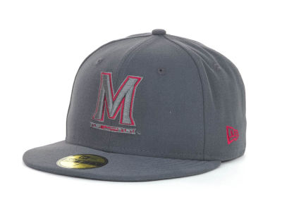 Maryland Terrapins NCAA Gray Pop 59FIFTY Cap Hats