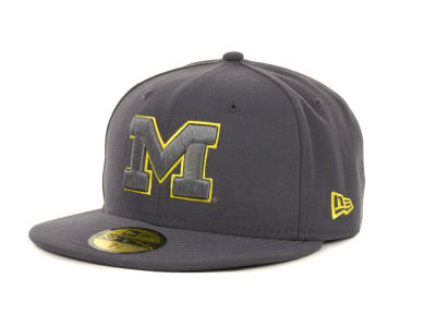 Michigan Wolverines NCAA Gray Pop 59FIFTY Cap Hats
