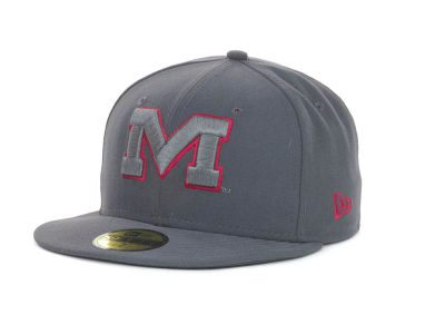 Mississippi Rebels NCAA Gray Pop 59FIFTY Cap Hats